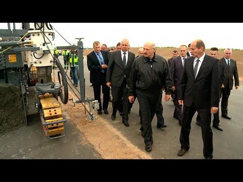 Смотреть Лукашенко посетил строительную площадку второй кольцевой автомобильной дороги онлайн