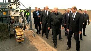Лукашенко посетил строительную площадку второй кольцевой автомобильной дороги