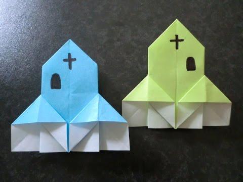 簡単 折り紙:折り紙 ハロウィン折り方-youtube.com