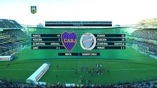 Fútbol en vivo. Boca - Godoy Cruz. Fecha 21. Torneo de Primera División 2015. FPT.