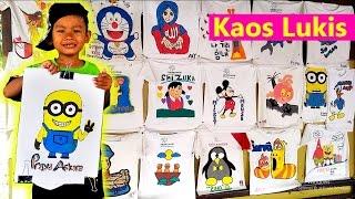 Melukis Kaos Di Taman Pintar, Wisata Yogyakarta | Minions Drawing on T Shirt
