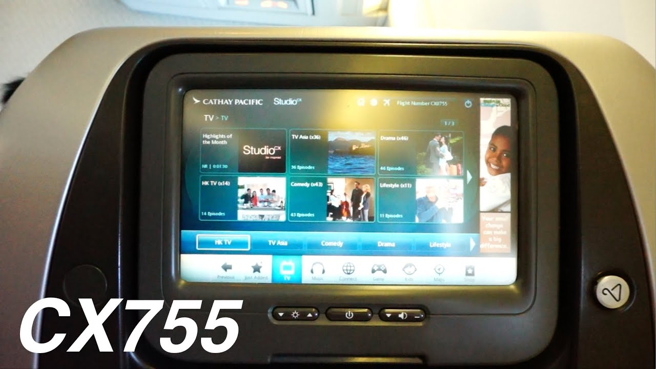 Cathay Pacific Boeing 747-400 Economy Class - Hong Kong ...