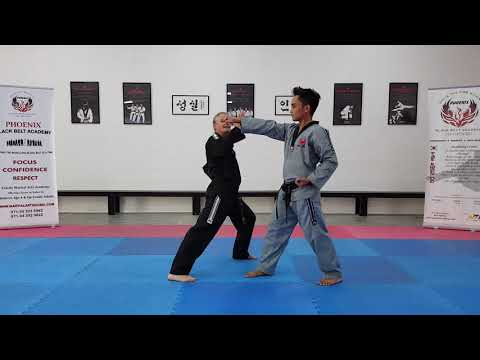 Self defense techniques (Green Belt Punching) Phoenix Blackbelt Academy- Dubai
