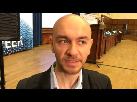 Felice Torrisi from University of Cambridge, at Graphene Week 2016