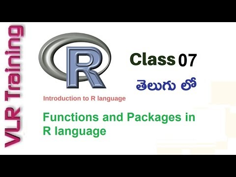 Functions And Packages In R Language Telugu  What Is  R Packages   VLR Training Class 07