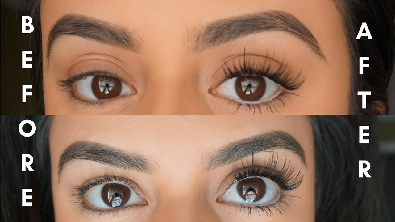 How To Apply False Lashes Underneath Youtube