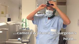 GoPro 3 Silver Camera in Operating Room to film surgical operations. GoPro in Surgery