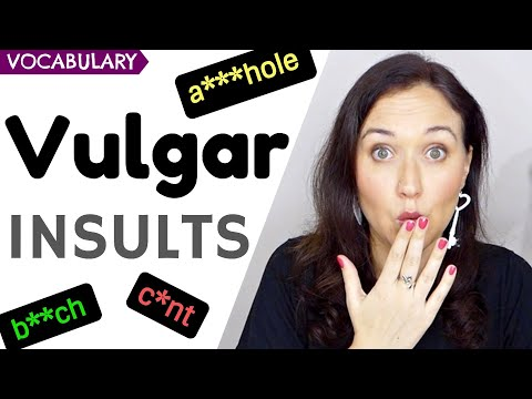 VULGAR INSULTS | English Vocabulary