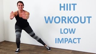 Low Impact HIIT Workout - 20 Minute Fat Burning Cardio HIIT Exercises with Low Impact - No Equipment