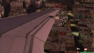 FS2004 - Landing at Airport Kai Tak / Hong Kong with A340 Swiss International Airlines.mp4