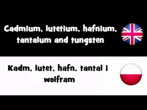TRANSLATE IN 20 LANGUAGES = Cadmium, lutetium, hafnium, tantalum and tungsten