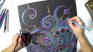 Nadia Satya, Time Lapse Drawing  - With Music by Matthew Kell