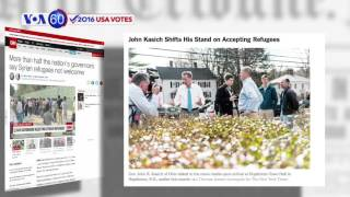 VOA60 Elections - 27 governors refuse to admit Syrian refugees