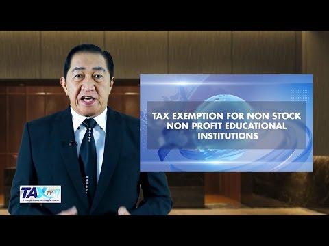ANC's TaxTV S02E04: Tax Exempt for Non-Stock Non-Profit Institution