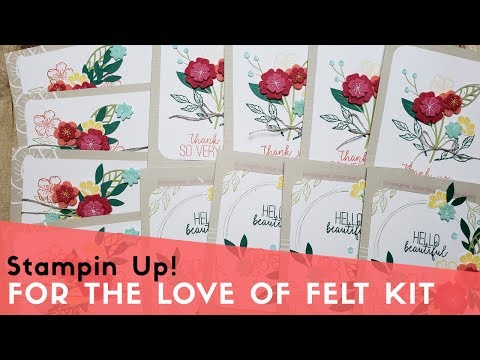For The Love Of Felt Kit   Stampin' Up!
