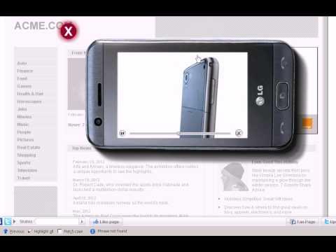 Banner interactiv LG GT505