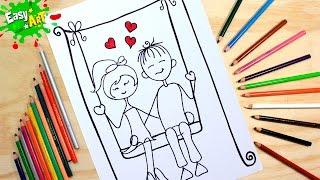 Como hacer una tarjeta de amor y amistad │how to draw a card of love and friendship