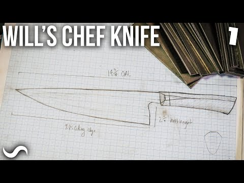 MAKING A TWISTED MULTI-BAR CHEF'S KNIFE!!! Part 1