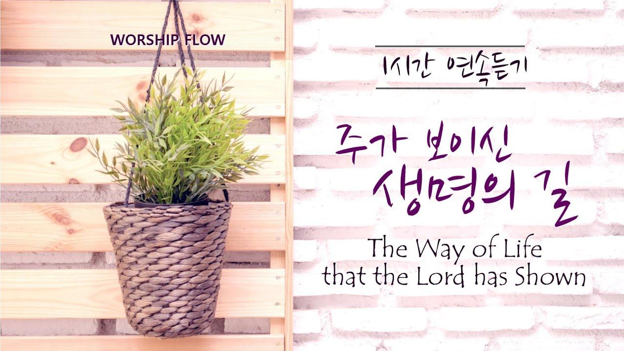 [1시간 연속듣기] 주가 보이신 생명의 길  피아노 CCM 연주/ The Way of Life that the Lord has Shown Piano (영어가사/Lyrics)