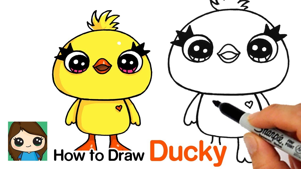 How To Draw Ducky Easy Toy Story 4