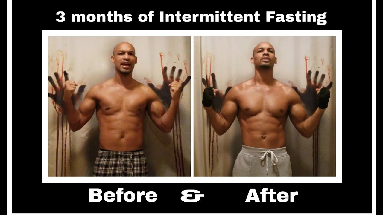 3 months of Intermittent Fasting Before & After (Real ...