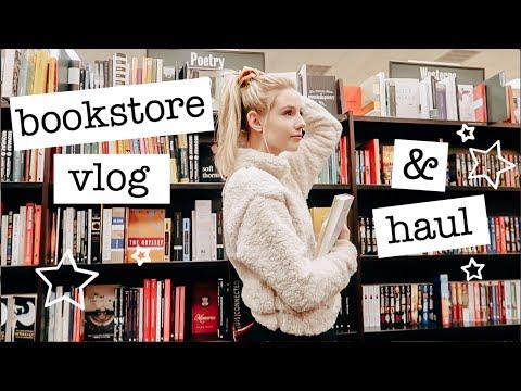 bookstore vlog + haul
