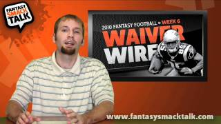 2010 fantasy football -  week 6 waiver wire pick ups