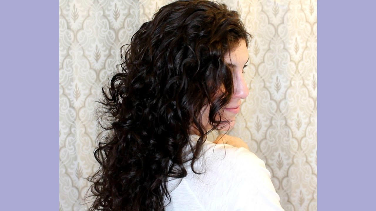 Curly Hair Routine How To Plop Your Hair Youtube