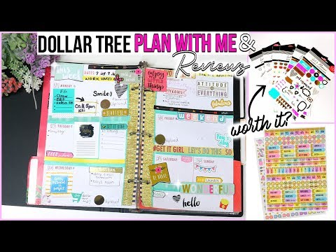 Trying Brand New Dollar Store Planner Supplies! Dollar Tree Plan with Me| Sensational Finds