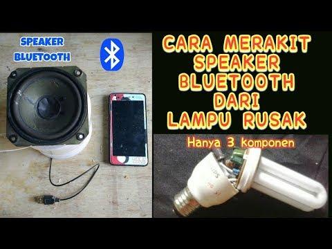 speaker bluetooth dari lampu rusak