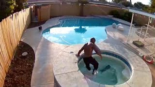 Man Rescues Puppy From Drowning In Backyard Pool