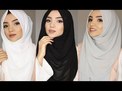 SIMPLE FULL COVERAGE HIJAB STYLES thumbnail