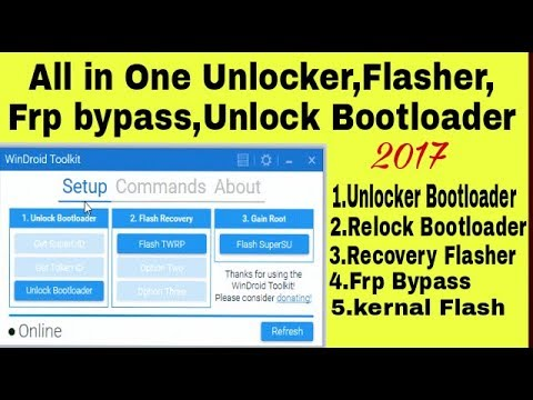 A new All In One Tool For Android|Unlocker|Unlock  Bootloader|Root|flasher|FRP|WinDroid Toolkit v3 1