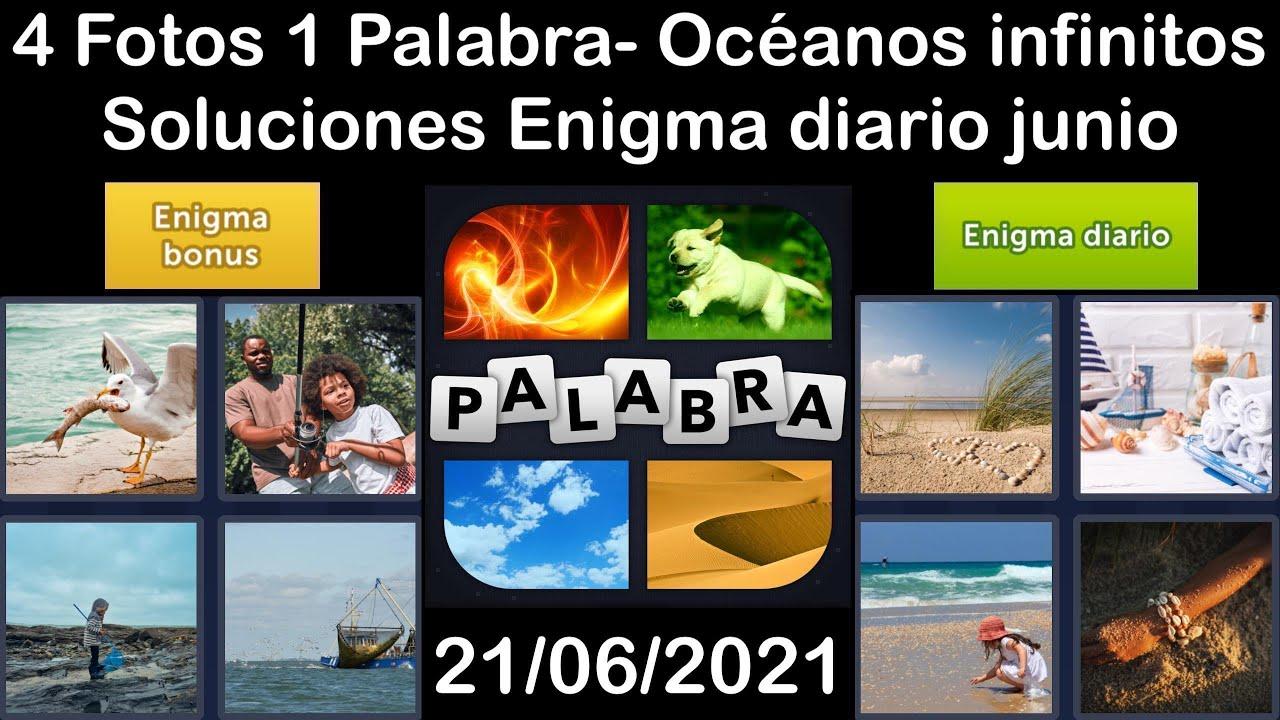 4 Fotos 1 Palabra - Océanos infinitos - 21/06/2021 - Solucion Enigma diario - junio de 2021