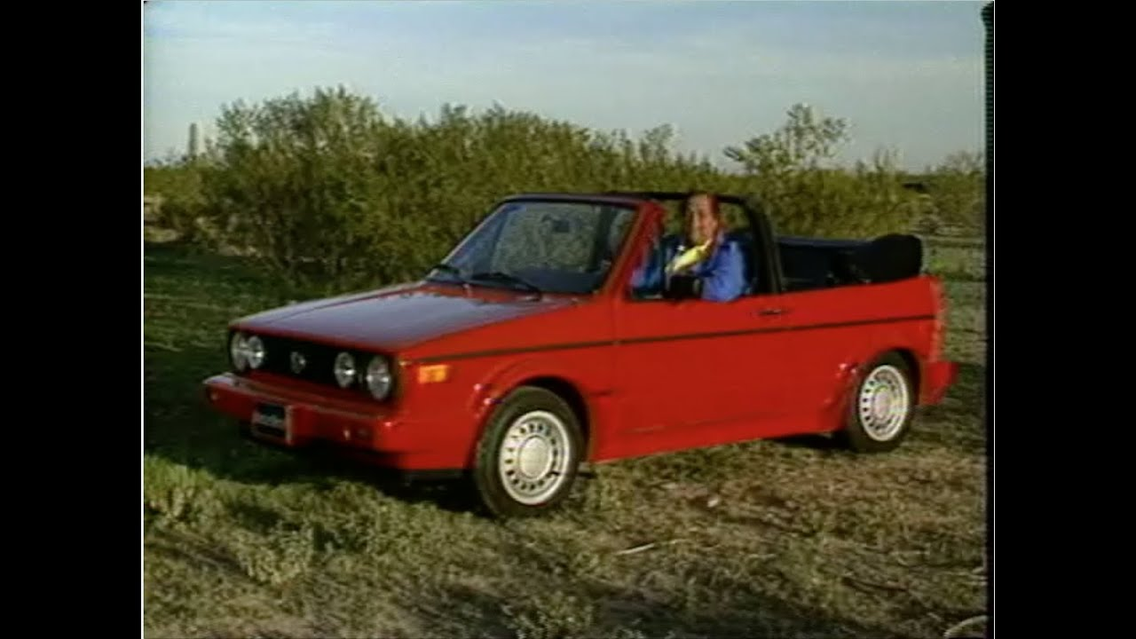 MotorWeek | Retro Review: '89 Volkswagen Cabriolet - YouTube