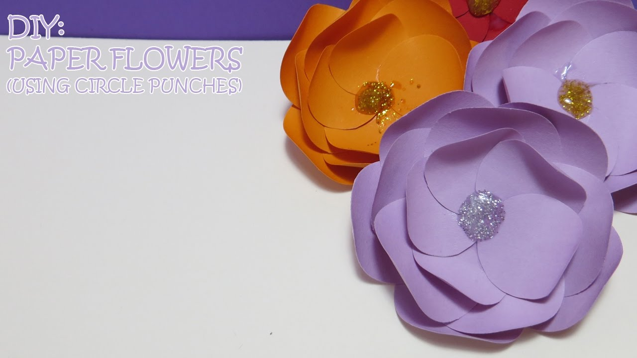 Diy paper flowers using circle punches youtube diy paper flowers using circle punches mightylinksfo