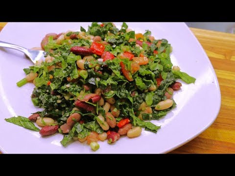 Summer Bean and Kale Salad Healthy Recipe Channel