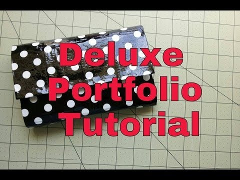 How to make a  Deluxe Portfolio Tutorial !!! (DIY)