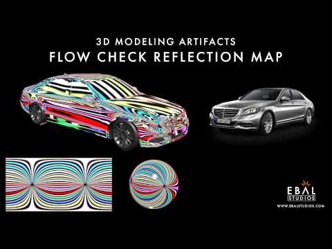 3D Modeling Artifacts / Flow Check Reflection Map Tutorial