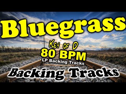 Bluegrass Backing Track in D Major   80 BPM Backing Track - Practice Guitar, Fiddle