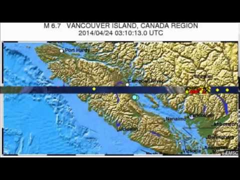 UN TERREMOTO DE 6.7 GRADOS GOLPEA CERCA DE LA COSTA DE LA ISLA DE VANCOUVER CANADA