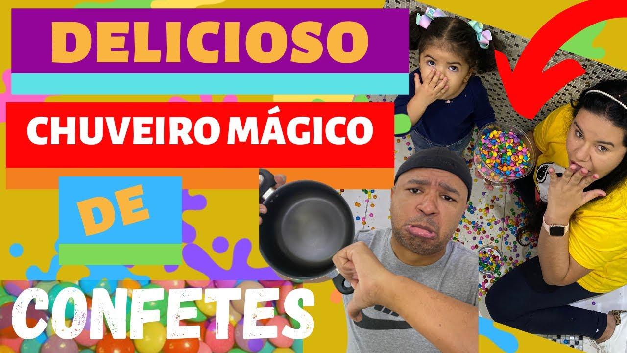 DELICIOSO CHUVEIRO MÁGICO DE CONFETES ||BRINCADEIRA INOCENTE