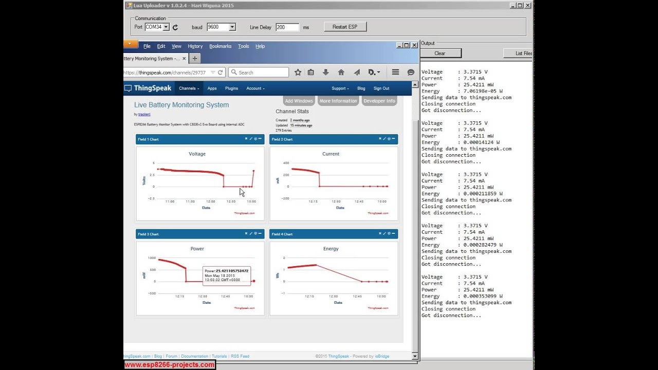 P2 – Battery Monitor System – Web Server and data upload