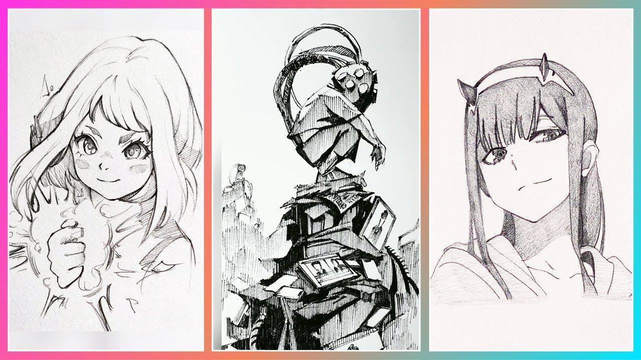 Đỉnh Cao Nghệ Thuật Tranh Vẽ Chì  Anime / Anime Pencil Drawing Art