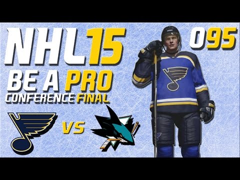 NHL 15 [Be A Pro] #095 - St. Louis Blues - San Jose Sharks (Playoffs Conference Final Spiel 1)