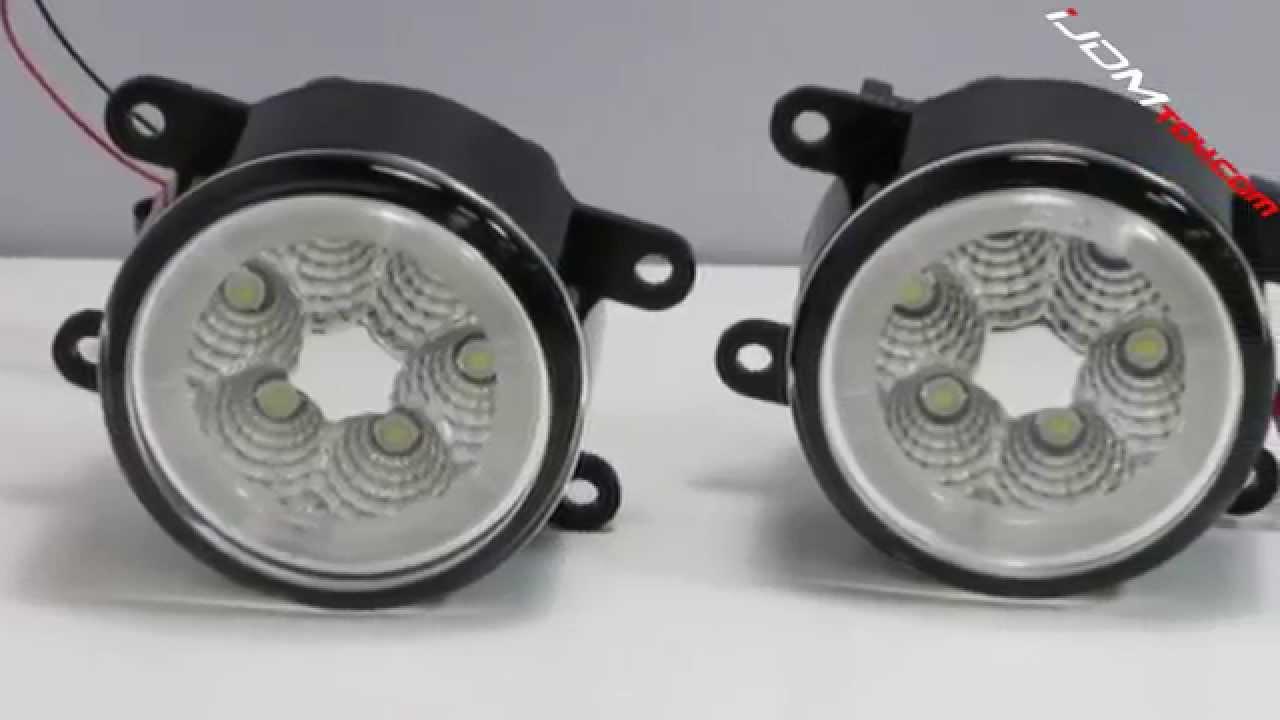 18w High Led Fog Lights For Acura Honda Ford Scion Subraru Etc You