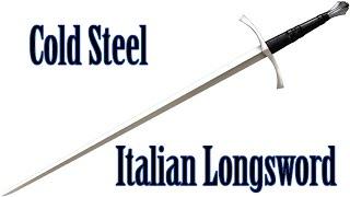 medieval review cold steel italian longsword