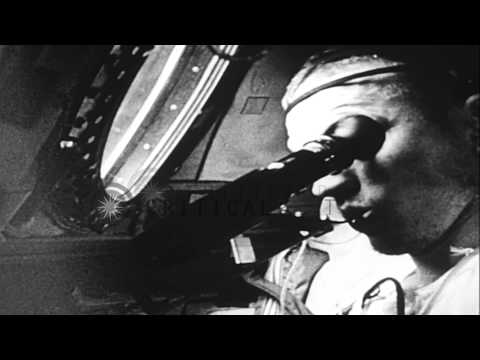 Space ship Gemini IV launched in space and astronauts James McDivitt and Edward W...HD Stock Footage