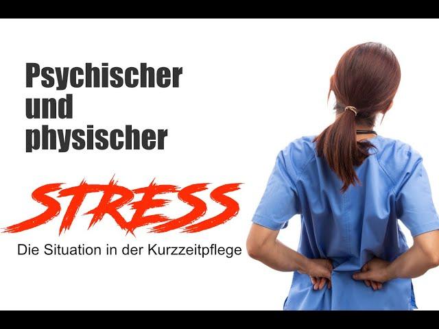 Psychischer und physischer Stress - Die Situation in der Kurzzeitpflege - Rede im Bundestag
