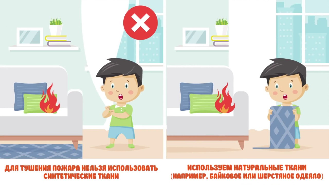 Действия при пожаре дома. Инструкция для детей